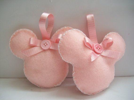 Minnie mouse felt ornament set of 2 by BellisimaSofia on Etsy, $8.00