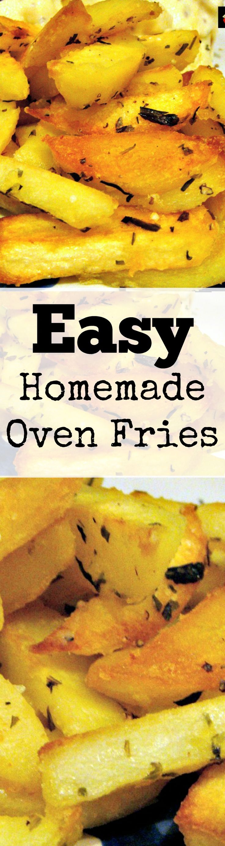 Easy Homemade Oven Fries. Crunchy on the outside, fluffy on the inside! Add your favorite seasonings and hey presto! Super yummy! | Lovefoodies.com