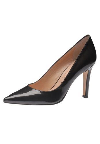 Für die selbstbewusste Lady, die hoch hinaus will: Der aufregende Lederpumps von Evita Shoes passt nicht nur zum kleinen Schwarzen, sondern peppt auch Basic-Outfits auf wie Jeans und Blazer. Handgefertigt aus Italien sieht man dem guten Stück Stil und Qualität schon von weitem an. Perfetto! Evita Shoes - Leidenschaft für italienische Schuhe und Accessoires
