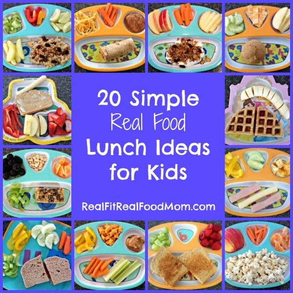 Real Food Lunch Ideas for Kids - 20 quick and easy lunches that can be 'thrown together' without much thought or planning!