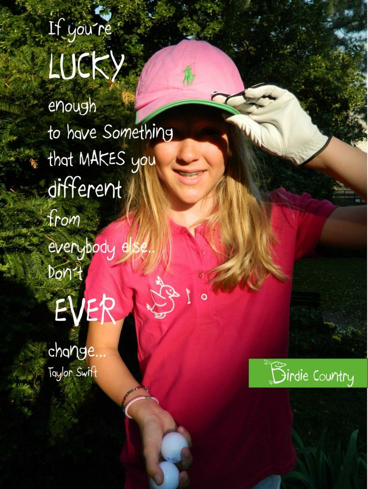 My daughter Patricia are wearing T-shirts Birdie! With sweet bird and golf flag on. www.birdiecountry.com