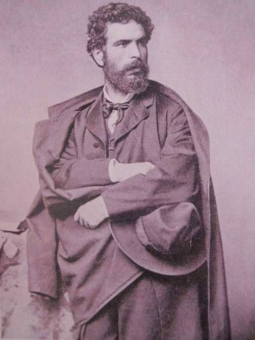 """Nikolaos Gyzis (Greek: Νικόλαος Γύζης, 1 March 1842 – 4 January 1901) was considered one of Greece's most important 19th-century painters. He was most famous for his work Eros and the Painter, his first genre painting. It was auctioned in May 2006 at Bonhams in London, being last exhibited in Greece in 1928. He was the major representative of the so-called """"Munich School"""", the major 19th-century Greek art movement."""