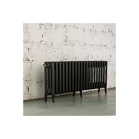 Arroll Neo-Classic 4 Column Radiator, Anthracite (W)1234mm (H)460mm | Departments | DIY at B&Q