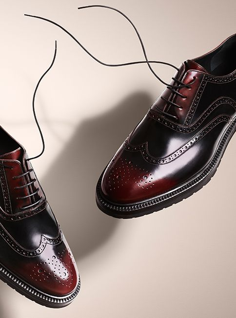 Classic leather brogues for men - new from the Burberry A/W14 accessories collection