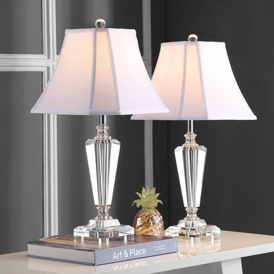 Ophelia Co Chaves 25 Table Lamp Set Wayfair In 2020 Crystal Table Lamps Table Lamp Sets Table Lamp