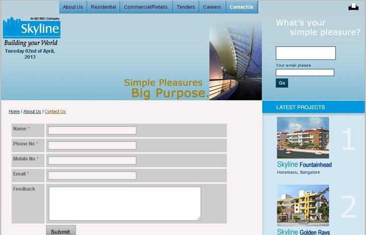 here's a chance to appreciate quality of Skyline Developers Bengaluru. You will certainly appreciate Skyline Fountainhead