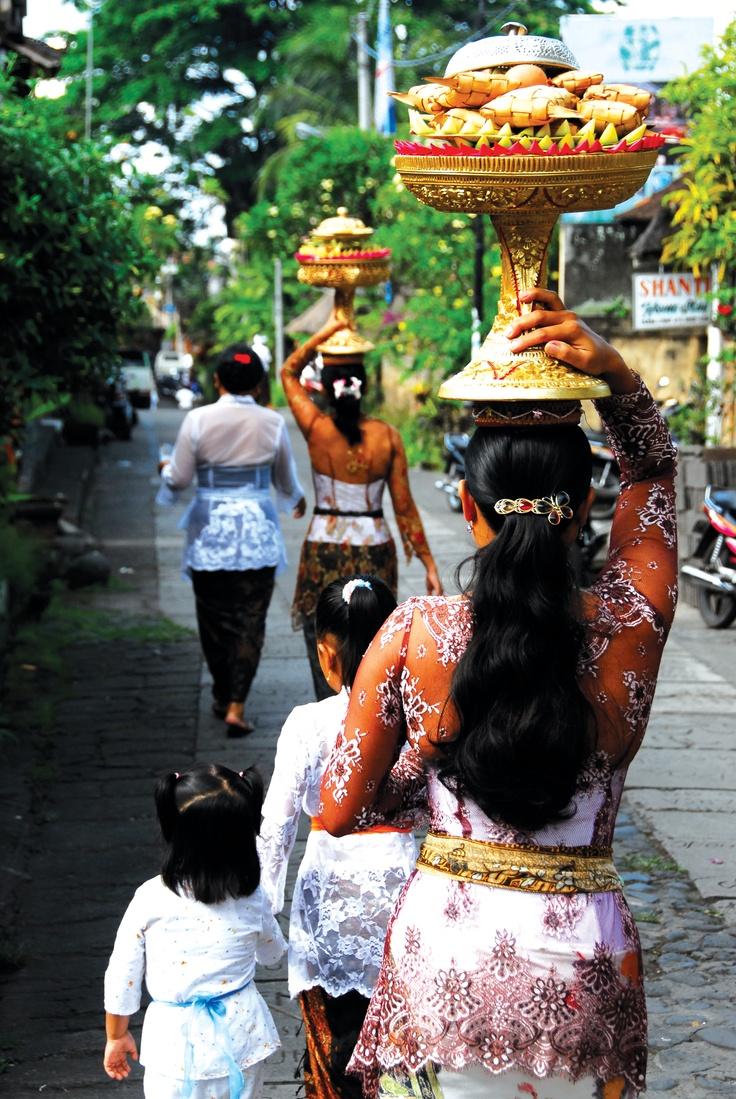 Festive offerings in Bali. Photo by Mark Mackay