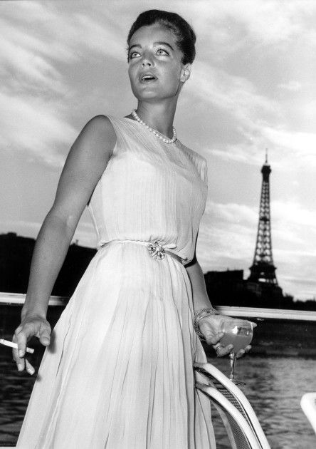 In white, in paris: #Romy #Schneider