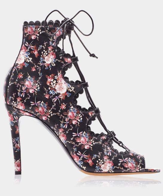 FARRADAY NO PF MULTICOLOR NAPPA ROSE PRINT | by Tabitha Simmons