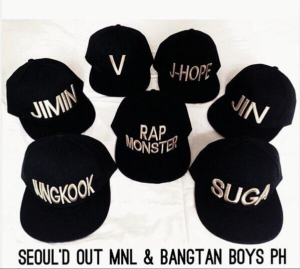 BTS Bangtan boys snapbacks