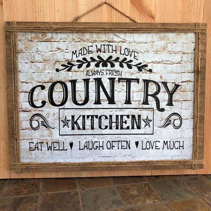 country kitchen, kitchen decor, kitchen sign, farmhouse