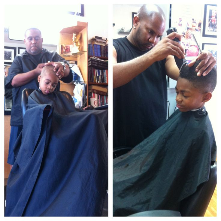 The Boys getting a cut at Imperial Barber Shop! Thanks Mario! #picoftheday