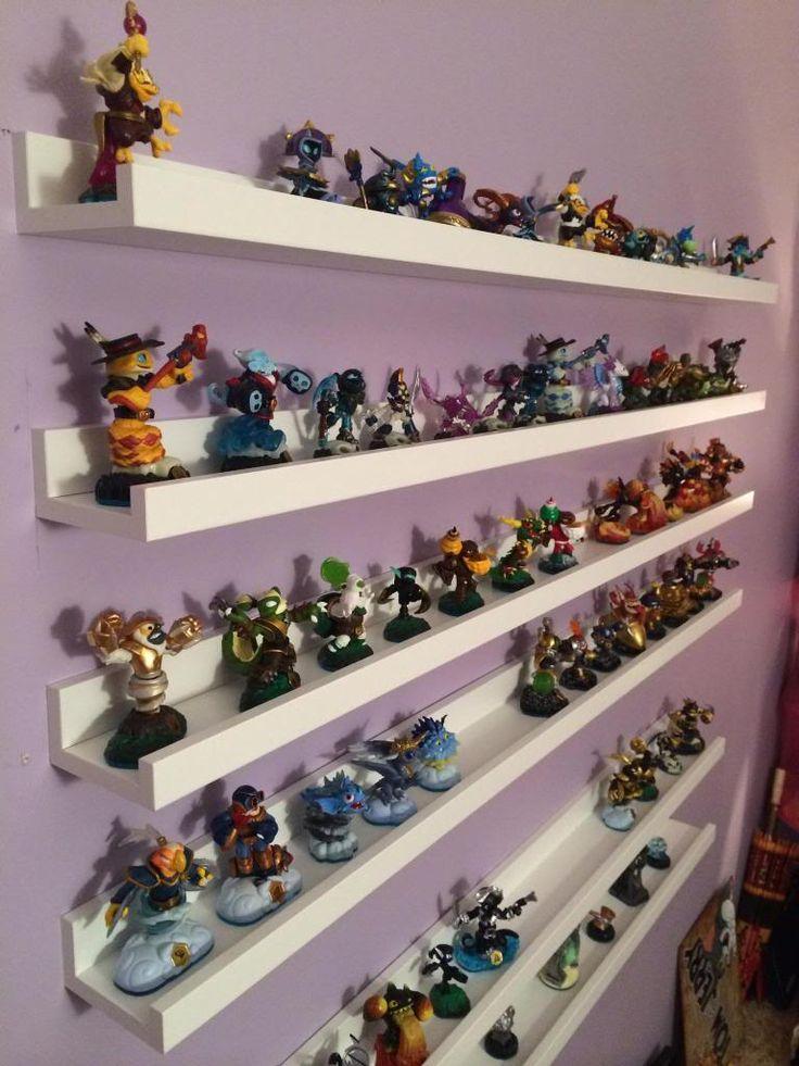 1000 images about figure storage ideas on pinterest hanging ikea ribba shelves IKEA Makeup Storage