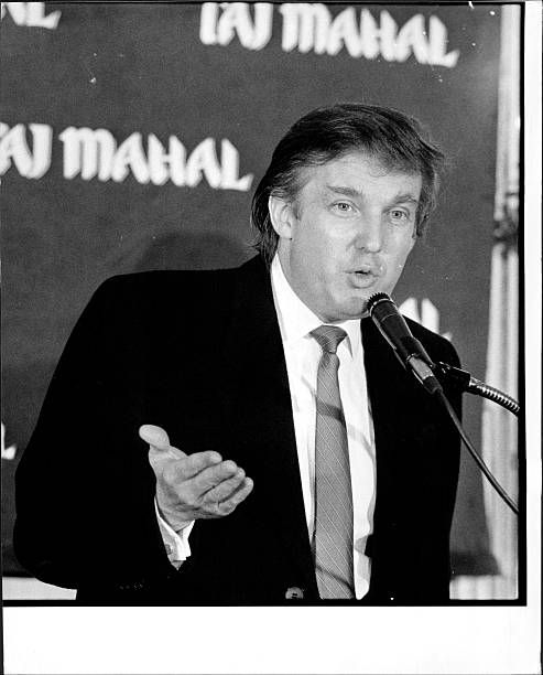Donald Trump Taj Mahal Press conference February 28 1989 Photo by David Rentas / NYP Holdings Inc via Getty Images