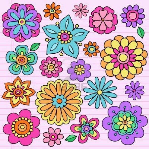 Flores dibujadas