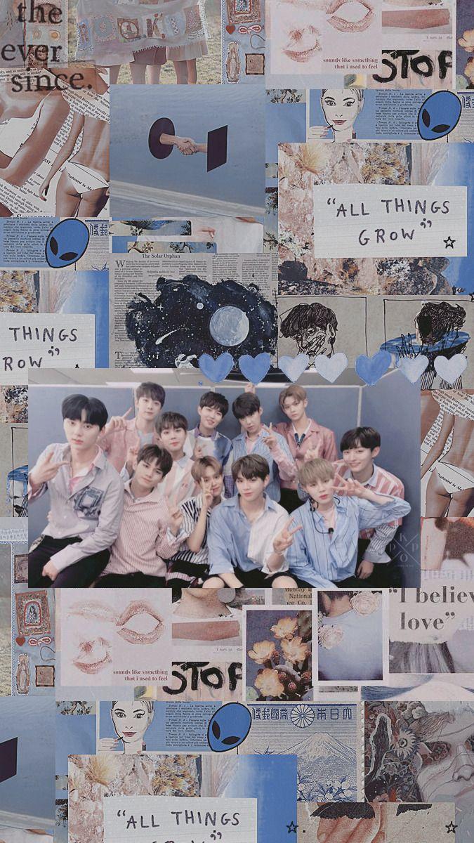 Wanna One Kertas Dinding Poster Bunga Gambar
