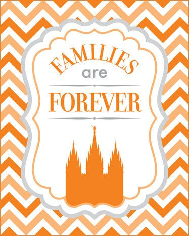Families Are Forever 2014 LDS Primary Theme printable by havejoy, $6.95