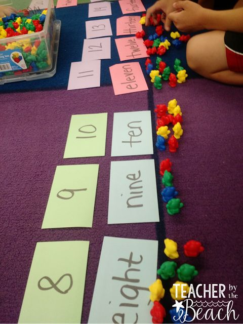 First Week Math Centers for 1st Grade