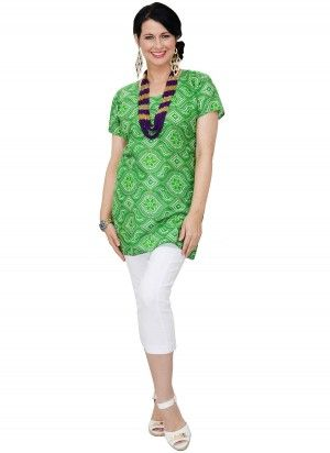 Abi Mid Length Green Tunic Top  AUD $24.95