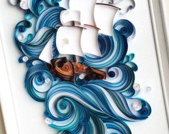 Arte de papel tubulares: buena suerte esté con por SenaRuna en Etsy