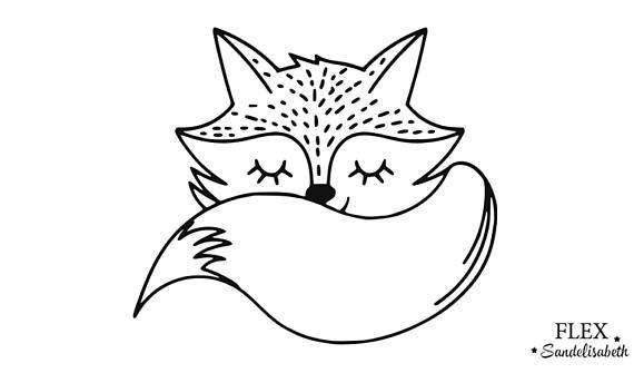appliqué en flex thermocollant renard renardeau cute ...