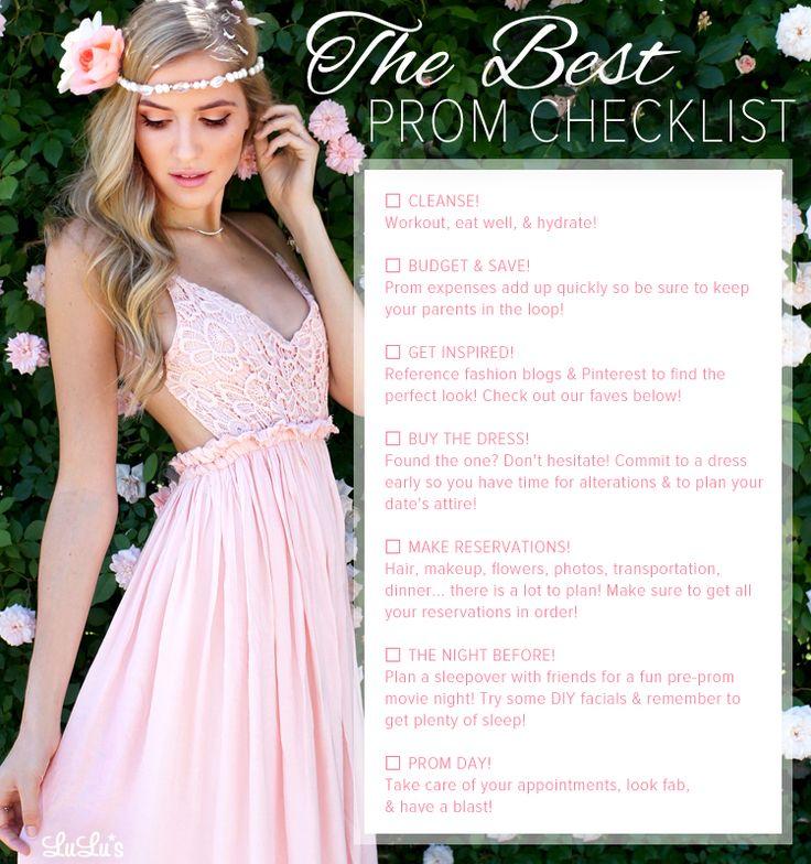 The Best Prom Checklist - Lulus.com Fashion Blog