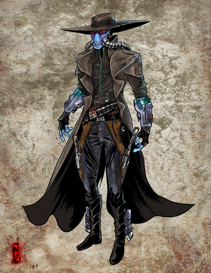 """Cad Bane - looks remarkably like Eddie The Iron Maiden mascot on the cover of the single """"Stranger in a Strange Land"""""""