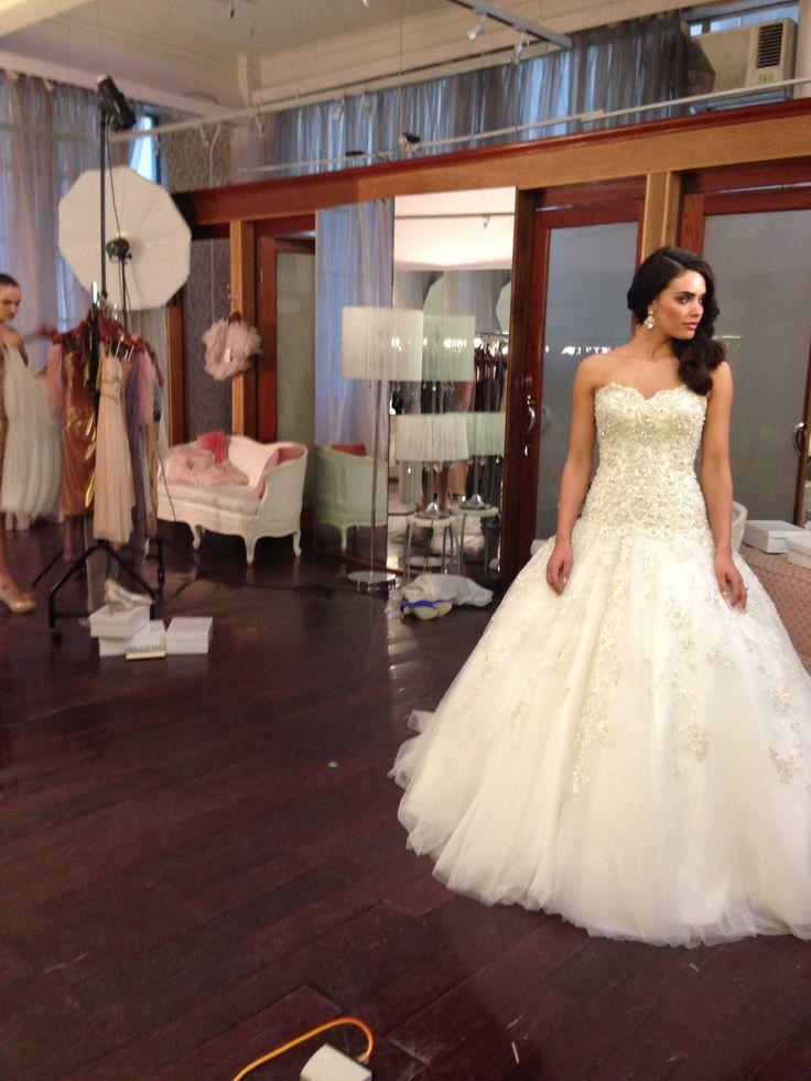 Roz la Kelin | On set of the Diamond Collection photo shoot | Glamorous Wedding Dress | #rozlakelin #weddingdress #blingweddingdress
