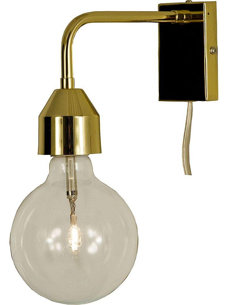 Vägglampa i mässing - Scan Lamps 60406-24