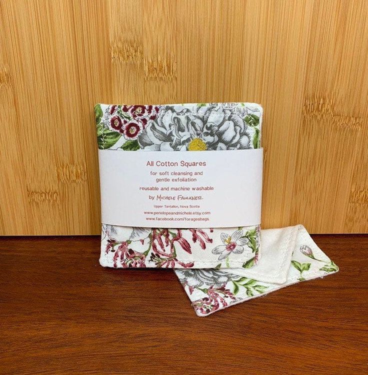 Reusable make up remover & gentle exfoliating pads/ large