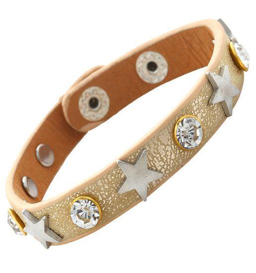https://www.goedkopesieraden.net/Lichtbruine-lederen-armband-zilveren-sterren-en-strass-stenen