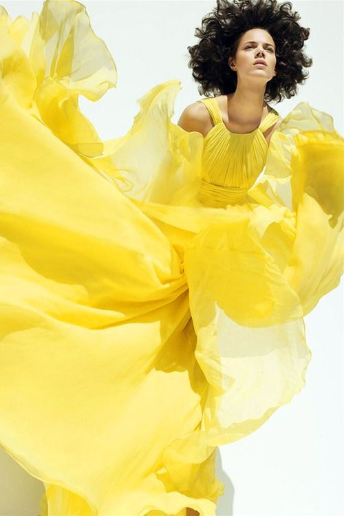 Freja Beha Erichsen ~ Sunshine: Freja Beha Erichsen, Fashion, Color, Harpers Bazaar, Dress, Sølve Sundsbø, Mellow Yellow