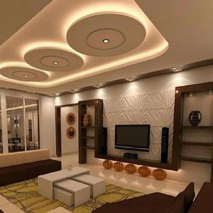 Amazing Ceiling Designs For Your TV Lounge - Interior Design