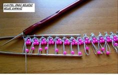 boncuk firkete. Hairpin lace crochet with beads