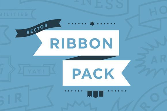 Vector Ribbon Pack    • Various vector ribbons and elements to use in your designs.  • A template pack ready to use 'as is' or a toolkit to use and customise for your own designs.  • Over 60 graphic elements (ribbons and shapes.)  • Vecto…