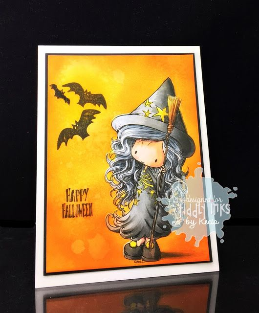 Tiddly Inks, Kecia Waters, Halloween, Copic markers, witch