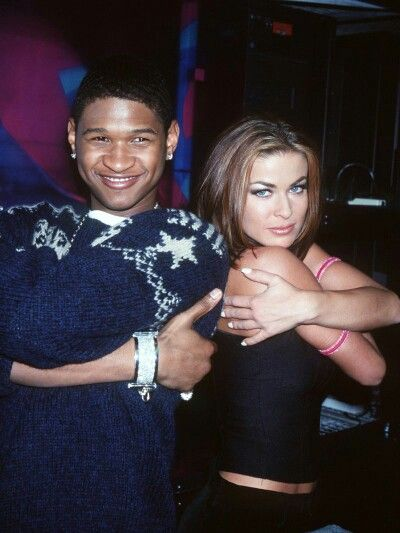 Usher and Carmen Electra