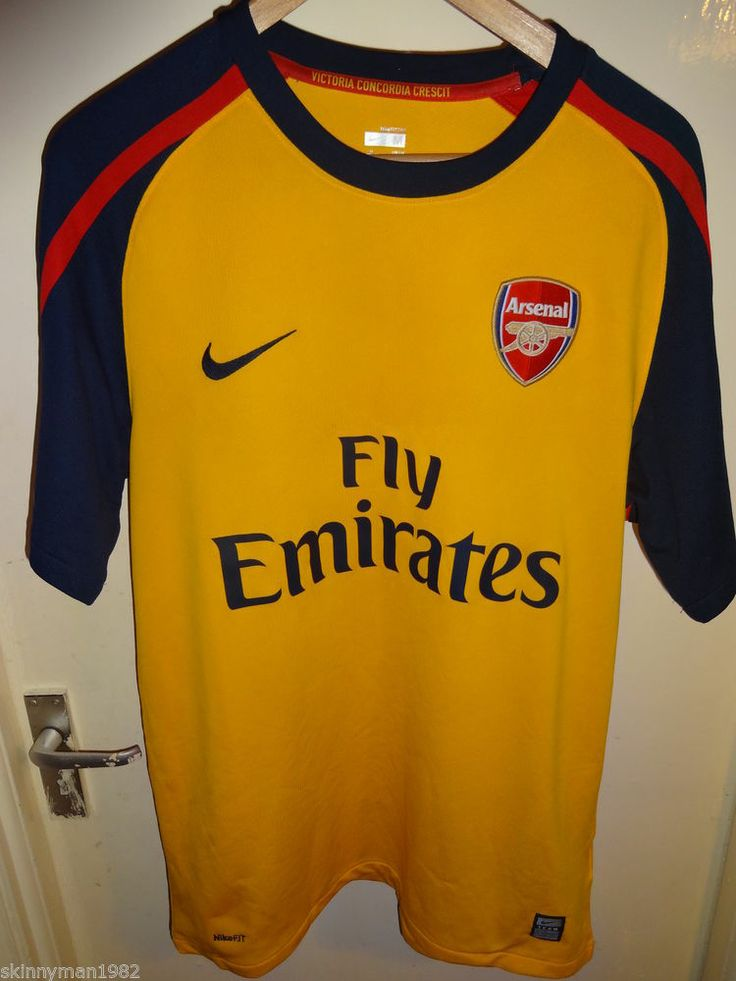 original Vintage Retro Authentic Arsenal Nike 2008 - 09 Football Soccer shirt M