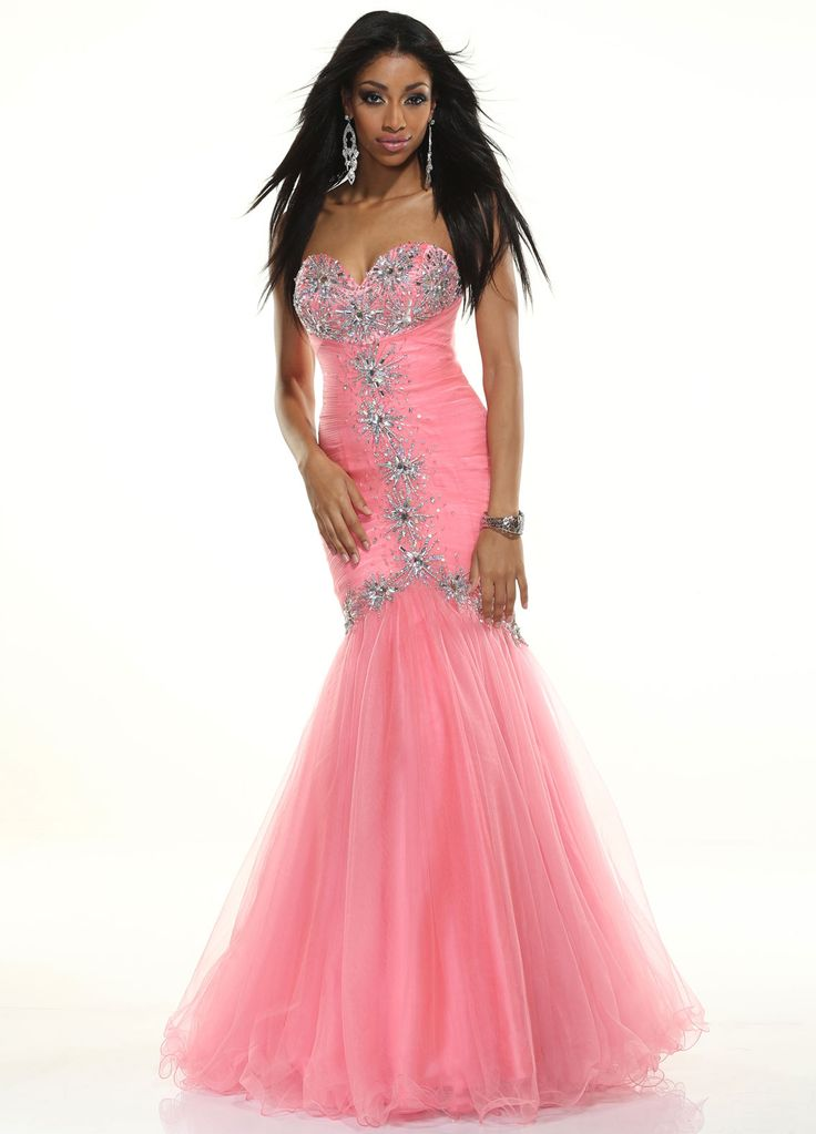 20 best Mermaid Pink images on Pinterest | Formal dresses, Ball gown ...
