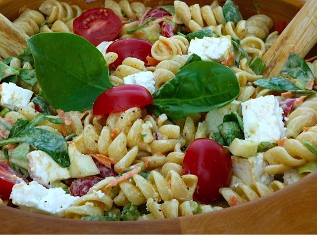 Party Salads for a Crowd | recipe for a delicious pasta salad that will perk up your next party ...