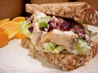 Chicken Salad with Cranberries & Walnuts (I also like to add green