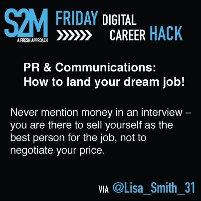 Career Hack #7 - Never mention money in an interview!