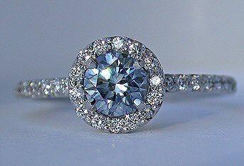 Blue Diamond and white diamonds