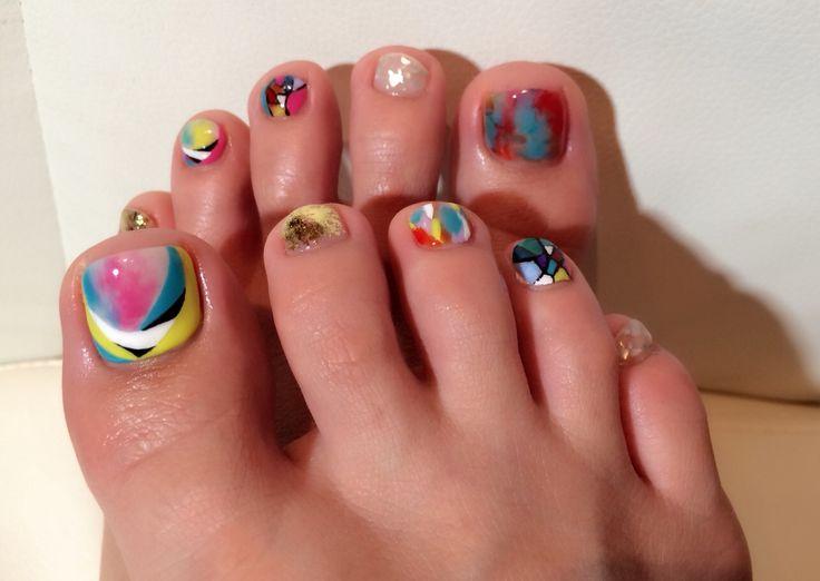 #footnail #左右非対称 #nail