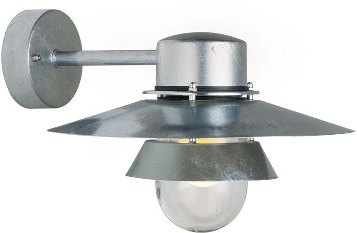REA! Nordlux Virum Vägglampa Galvaniserat stål 60W E27 IP44 - HemOchBastu.se
