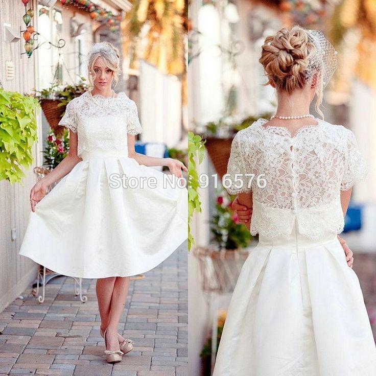 Plus size lace reception dress