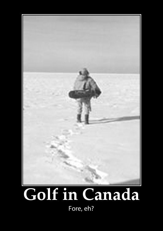 winter golf in Canada