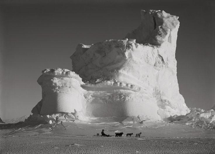 1stdibs | Herbert George Ponting - THE CASTLE BERG WITH DOG SLEDGE, SEPTEMBER 17 1911