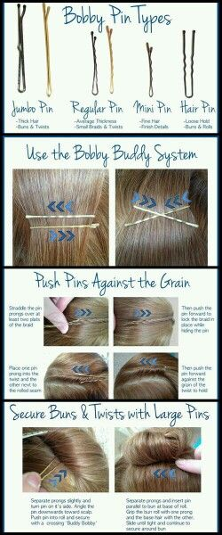 How to use bobby pins