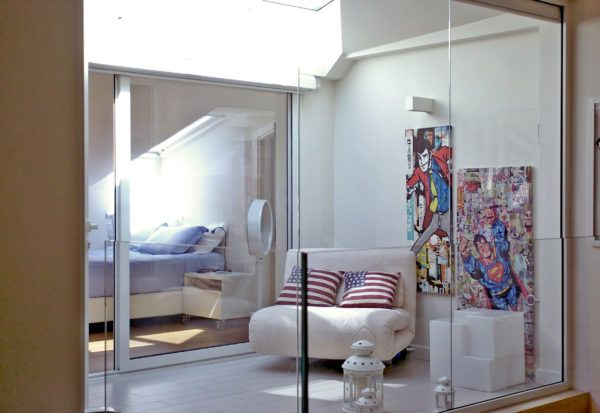 Cavedio & Lighting.  Special bedroom. Valentina Farassino Architetto